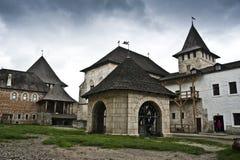 Yarda del castillo de Khotyn Foto de archivo