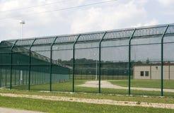 Yarda del ejercicio de la prisión. Fotografía de archivo