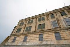 Yarda del ejercicio en Alcatraz Imagen de archivo