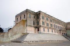 Yarda del ejercicio en Alcatraz Imágenes de archivo libres de regalías