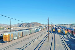 Yarda del ferrocarril Foto de archivo libre de regalías