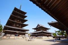 Yarda del oeste de Horyuji Foto de archivo