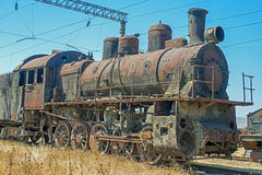 Yarda del sepulcro de la locomotora de vapor Fotografía de archivo libre de regalías