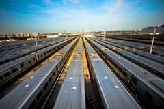 Yarda del tren Fotografía de archivo libre de regalías