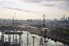 Yarda del tren de New Jersey Fotos de archivo libres de regalías