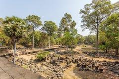 Yarda delante del templo de Phuon de los vagos, Angkor Thom, Siem Reap, Camboya Foto de archivo libre de regalías