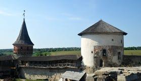 Yarda europea del castillo Foto de archivo libre de regalías