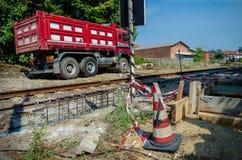 Yarda ferroviaria de la construcción Fotos de archivo