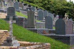 Yarda grave Imagenes de archivo