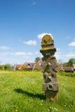 Yarda grave en el holandés Terschelling Fotos de archivo libres de regalías