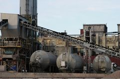 Yarda industrial Imagenes de archivo
