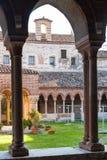 Yarda interna de Basilica di San Zeno en Verona Foto de archivo