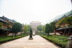 Yarda interna de Lufeng Temple en Shaoxing China imágenes de archivo libres de regalías