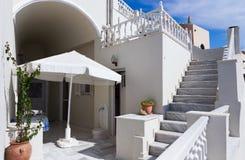 Yarda interna de Santorini Imagen de archivo libre de regalías