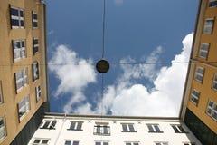 Yarda interna en Copenhague central, Dinamarca Foto de archivo libre de regalías
