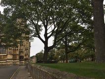 Yarda reservada de la iglesia de monasterio fuera de la catedral de Lincoln imágenes de archivo libres de regalías