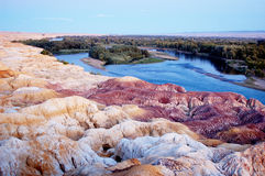 The Yardang landform Royalty Free Stock Photo
