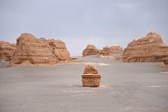 Yardang Landform in Dunhuang Lizenzfreie Stockfotografie