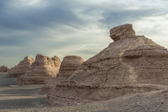 Yardang landform in Dunhuang Royalty Free Stock Photography