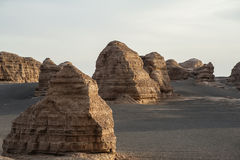 Yardang landform in Dunhuang Stock Photo