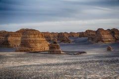 Yardang-Landschaft Lizenzfreies Stockfoto