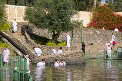 Yardenit sul fiume Giordano Fotografia Stock Libera da Diritti