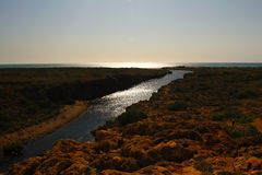 Yardie Creek Gorge in the Cape Range National Park, Ningaloo. Re Stock Image