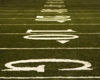 Yardlines di gioco del calcio Immagini Stock Libere da Diritti