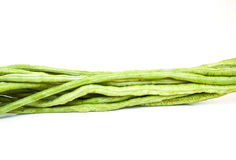 Yardlong bean with white background. For raw material Stock Photos