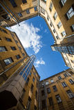 Yards courtyard or court structure shapes in St. Petersburg Stock Photos