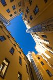 Yards structure shapes in St. Petersburg, Russia. Yards courtyard structure shapes in St. Petersburg, Russia Royalty Free Stock Photo