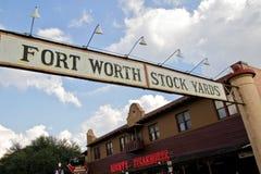 Yards d'actions de Fort Worth, le Texas Image libre de droits