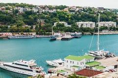 Yards and Docks shipyard in Sevastopo Royalty Free Stock Images