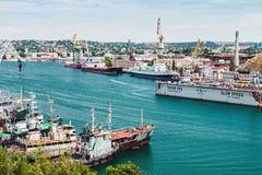 Yards and Docks shipyard in Sevastopol Stock Image