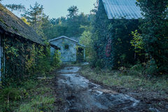 Yards Häuser, in denen 20 Jahre nicht bewohnt werden Stockfoto