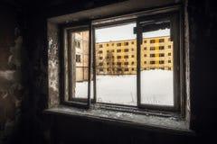 Yards Häuser, in denen 20 Jahre nicht bewohnt werden Lizenzfreie Stockbilder