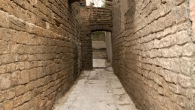 Yards, stegen, en straten van Oude Baku royalty-vrije stock fotografie