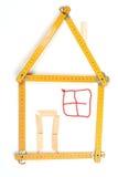 Yardstick house Stock Photo