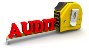 Yardstick measures the word AUDIT Stock Photography