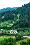Yaremche, Ουκρανία - 17 Αυγούστου 2017: Άποψη στα περίχωρα από το βουνό στοκ εικόνες