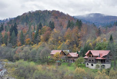 Yaremche village in autumn, Carpathians, Ukraine. Stock Image