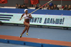 Yarisley Silva - Cuban pole vaulter Royalty Free Stock Images