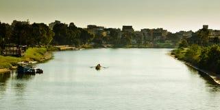 Yarkon Cityscape. View of summer park Yarkon in Tel Aviv,Israel Stock Photography