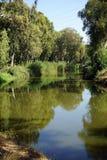 Yarkon flod Royaltyfria Foton