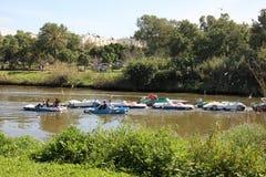 Yarkon river Stock Images