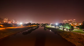 Yarkon river in tel aviv Stock Images