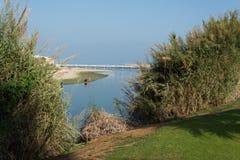 Yarkon river in Tel Aviv Stock Photography