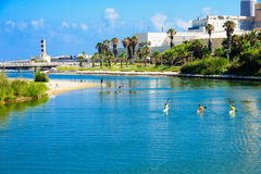 Yarkon Stream, Tel-Aviv Stock Photos