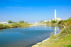 Yarkon stream, Tel-Aviv Royalty Free Stock Photos