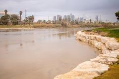 Yarkon stream at winter, Tel-Aviv Stock Photography